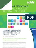 Optify Kick Ass Content Calendar Guide