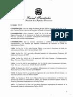 Decreto 528-09 Reglamento Orgánico Ministerio Administración Pública