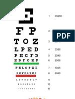 Eye. snellen chart, ishihara test