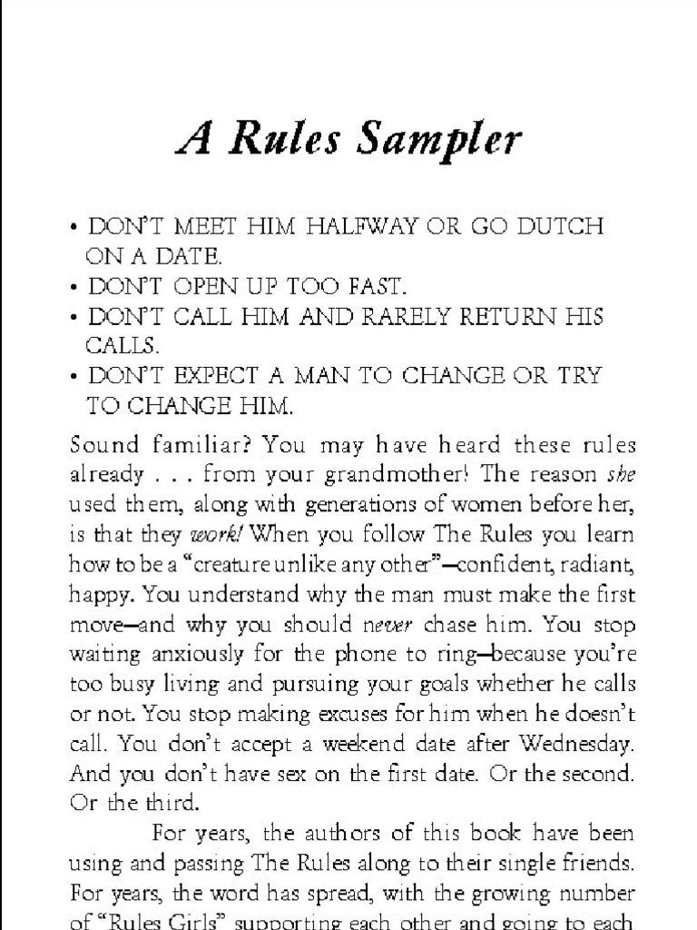 The rules dating book ellen fein