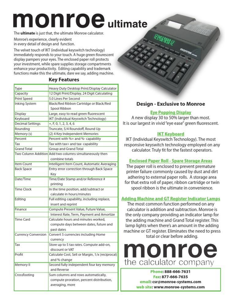 Monroe Ultimate Calculator