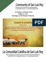 Bulletin for 08-11-2013