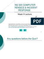 CNS 320 Week9 Lecture