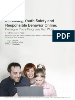 Increasing Youth Safety and Responsible Behavior Online