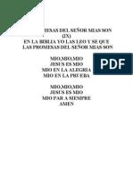 LAS PROMESAS DEL SEÑOR MIAS SON