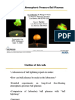 Free-Floating Atmospheric Pressure Ball Plasmas
