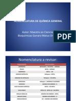 08 Nomenclatura de Química General