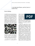 Aldridge, David - Clinical Resarch, the Individual Patien, and the Limits of Randomized Controlled Trials.pdf