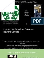 Howard Schultz the Leader An Icon for the American Dream