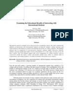 Examining the Educational Benefits of Interacting with International Students. By Jiali Luo, PhD, and David Jamieson-Drake, PhD,  Duke University (USA),  pp. 85-101