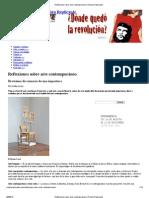 Reflexiones sobre arte contemporáneo _ Revista Replicante