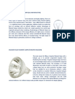 Incandescent Filament Lamps