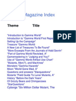 Gamma World Dragon Magazine Index