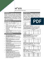 Masterflow 870 TDS