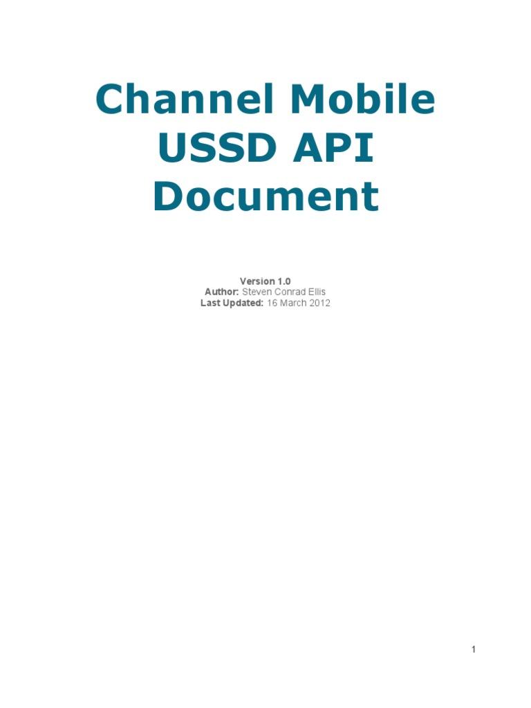 ChannelMobile USSD API | Hypertext Transfer Protocol