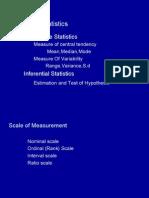 Basics of Statistics