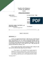 01 - Pua vs. Sps. Bautista [CA-G.R. CV NO. 77418]