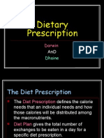 Dietary Prescription