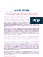 Nota de Prensa Demus PDF