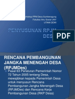 Workshop Rpjm Desa