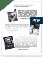 Peliculas Disponibles en La Biblioteca Gerardo Selles Sola Mayo 2009