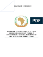 African Union Elections Observation Report Sierra Leone 2012