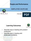 Employee Dicipline and Misconduct