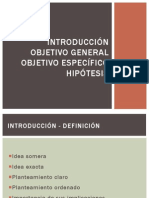 INTRODUCCION, OBJETIVO, HIPOTESIS
