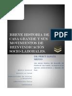 BREVE HISTORIA DE CASA GRANDE Y LOS MOVIMIENTOS DE REINVINDICACIÓN SOCIO
