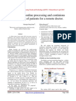 ECG signal online processing and continious monitering of patients for a remote doctor