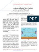 Clock Harmonization during Time-Variant Underwater Acoustic Channels