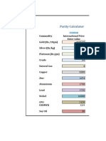 Parity Price Calculator