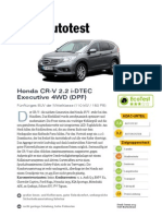 Honda Cr v 2 2 i Dtec Executive 4wd Dpf