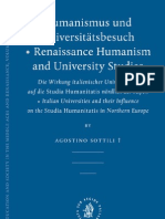 Agostino Sottili-Humanismus Und Universitatsbesuch - Renaissance Humanism and University Studies (Education and Society in the Middle Ages and Renaissance) (German Edition) (2006)