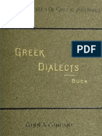 Buck, Greek Dialects