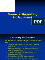 Financial Reporting Environemnt