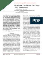 Communication in Vibrant Peer Groups For Cluster Key Management
