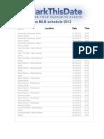 Miami Marlins MLB Schedule 2013 22033