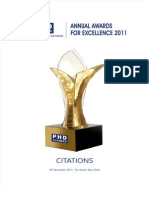 Awards Phd Citation 2011