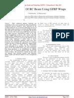 Strengthening Of RC Beam Using GFRP Wraps