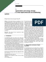 Investigation on Regeneration and Energy Storage