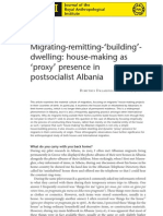 Dalakoglou Dimitris 2010 Migrating-Remitting-building-dwelling House-Making as Proxy Presence in Postsocialist Albania. In JRAI