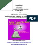 2007.08.20 - 2007.10.15 - #1-#25. Alan Watt CTTM Transcripts