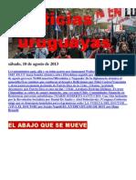 Noticias Uruguayas sábado 10 de agosto del 2013
