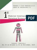 Folleto sobre el 1er Festival Internacional de Cine y Derechos Humanos