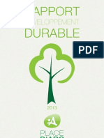 Rapport Developpement Durable Place d'Arc