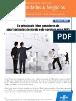 Os principais fatos geradores de oportunidades do varejo e de serviços para 2013