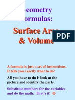 Surface Area and Volume Powerpoint 1