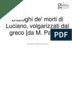 Dialoghi Dei Morti Di Luciano