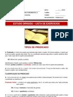 Estudo Dirigido LINGUA PORTUGUESA 7 Ano II Trimestre